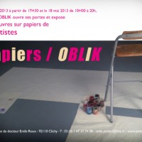 L'atelier OBLIK invite Isabelle Janier