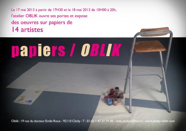 Exposition OBLIK dessins et peintures