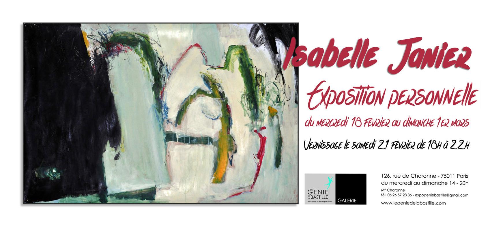 Isabelle Janier Exposition personnelle